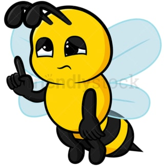 Cute sleepy bee - Image isolated on white background. Transparent PNG and vector (infinitely scalable) EPS