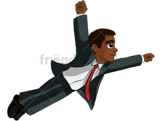 Superhero black business man - Image isolated on transparent background. PNG