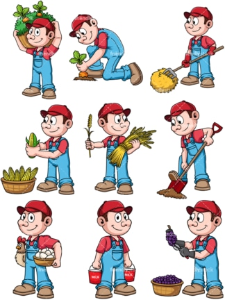 Male farmer. PNG - JPG and vector EPS file formats (infinitely scalable). Image isolated on transparent background.