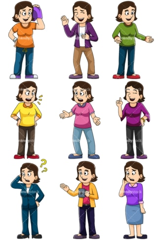 Women talking. PNG - JPG and vector EPS file formats (infinitely scalable). Images isolated on transparent background.