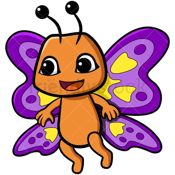 Adorable butterfly. PNG - JPG and vector EPS file formats (infinitely scalable). Image isolated on transparent background.