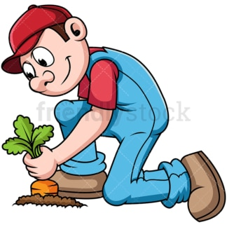 Farmer harvesting crops. PNG - JPG and vector EPS file formats (infinitely scalable). Image isolated on transparent background.