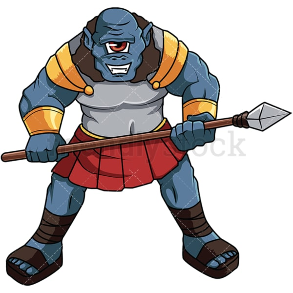 Greek cyclops warrior. PNG - JPG and vector EPS file formats (infinitely scalable). Image isolated on transparent background.