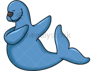 Dabbing seal. PNG - JPG and vector EPS file formats (infinitely scalable). Image isolated on transparent background.