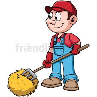 Farmer rolling the hays. PNG - JPG and vector EPS file formats (infinitely scalable). Image isolated on transparent background.