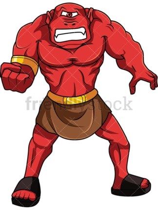 Angry ogre. PNG - JPG and vector EPS file formats (infinitely scalable). Image isolated on transparent background.