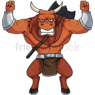 Angry minotaur. PNG - JPG and vector EPS file formats (infinitely scalable). Image isolated on transparent background.