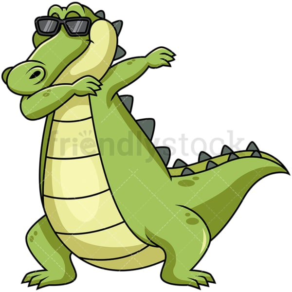 Dabbing alligator. PNG - JPG and vector EPS file formats (infinitely scalable). Image isolated on transparent background.