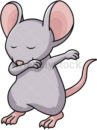 Dabbing mouse. PNG - JPG and vector EPS file formats (infinitely scalable). Image isolated on transparent background.