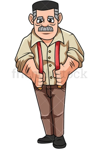 Old man supervisor. PNG - JPG and vector EPS file formats (infinitely scalable). Image isolated on transparent background.