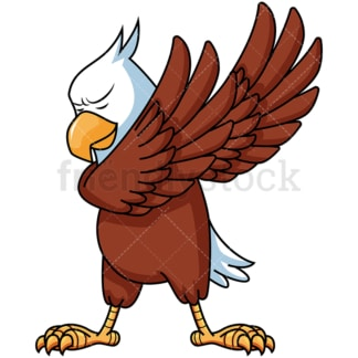 Dabbing eagle. PNG - JPG and vector EPS file formats (infinitely scalable). Image isolated on transparent background.