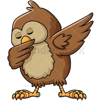 Dabbing owl. PNG - JPG and vector EPS file formats (infinitely scalable). Image isolated on transparent background.
