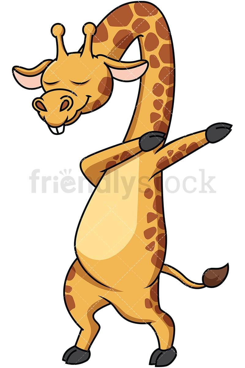 Cartoon Characters Dabbing : Dabbing giraffe cartoon vector clipart friendlystock