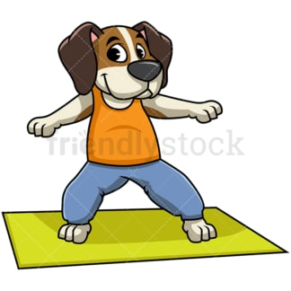 Beagle dog doing yoga. PNG - JPG and vector EPS file formats (infinitely scalable). Image isolated on transparent background.