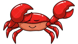 Dabbing crab. PNG - JPG and vector EPS file formats (infinitely scalable). Image isolated on transparent background.