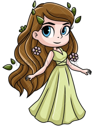 Demeter goddess of harvest. PNG - JPG and vector EPS file formats (infinitely scalable). Image isolated on transparent background.