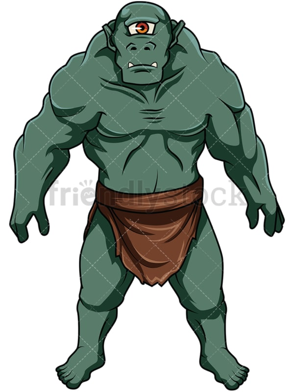 Green skin ogre. PNG - JPG and vector EPS file formats (infinitely scalable). Image isolated on transparent background.