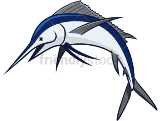 Marlin fish. PNG - JPG and vector EPS file formats (infinitely scalable). Image isolated on transparent background.