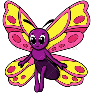 Shocked butterfly. PNG - JPG and vector EPS file formats (infinitely scalable). Image isolated on transparent background.