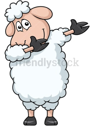 Dabbing sheep. PNG - JPG and vector EPS file formats (infinitely scalable). Image isolated on transparent background.