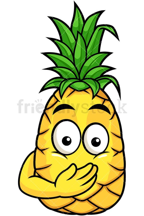 Pineapple oops expression. PNG - JPG and vector EPS file formats (infinitely scalable). Image isolated on transparent background.