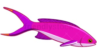Pink fish. PNG - JPG and vector EPS file formats (infinitely scalable). Image isolated on transparent background.