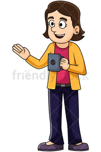 Woman talking over coffee. PNG - JPG and vector EPS file formats (infinitely scalable). Image isolated on transparent background.