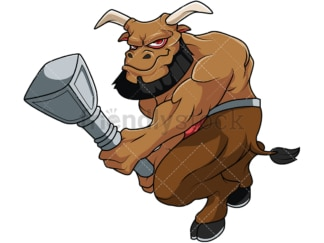 Big minotaur warrior. PNG - JPG and vector EPS file formats (infinitely scalable). Image isolated on transparent background.