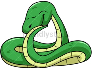 Dabbing snake. PNG - JPG and vector EPS file formats (infinitely scalable). Image isolated on transparent background.