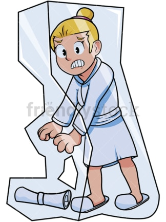 Woman in ice block. PNG - JPG and vector EPS file formats (infinitely scalable). Image isolated on transparent background.
