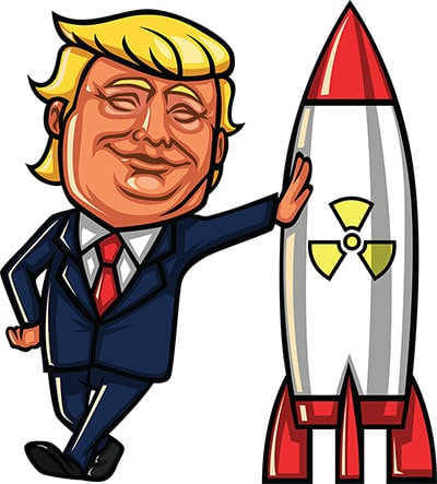 Donald Trump Leaning On Nuclear Missile