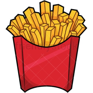 Serving of french fries. PNG - JPG and vector EPS file formats (infinitely scalable). Images isolated on transparent background.