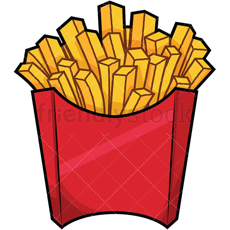serving of french fries cartoon vector clipart friendlystock rh friendlystock com french fries clip art free french fries clip art free