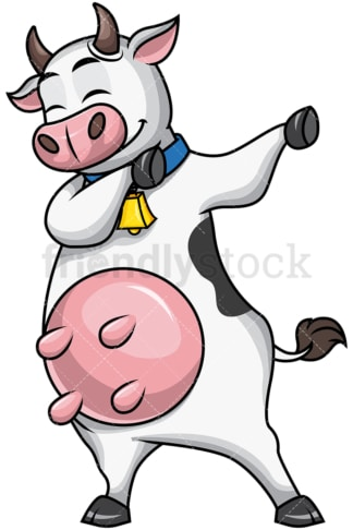 Dabbing cow. PNG - JPG and vector EPS file formats (infinitely scalable). Image isolated on transparent background.