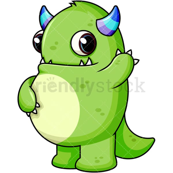 Green monster. PNG - JPG and vector EPS (infinitely scalable). Image isolated on transparent background.