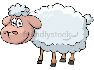 Happy sheep. PNG - JPG and vector EPS file formats (infinitely scalable). Image isolated on transparent background.
