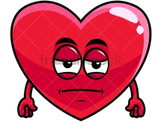 Heavy eyes heart emoticon. PNG - JPG and vector EPS file formats (infinitely scalable). Image isolated on transparent background.