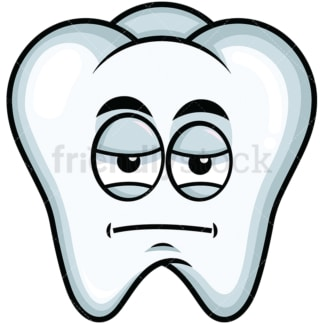 Heavy eyes tooth emoticon. PNG - JPG and vector EPS file formats (infinitely scalable). Image isolated on transparent background.