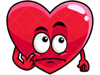 Wondering heart emoticon. PNG - JPG and vector EPS file formats (infinitely scalable). Image isolated on transparent background.