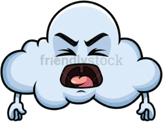 Yelling cloud emoticon. PNG - JPG and vector EPS file formats (infinitely scalable). Image isolated on transparent background.