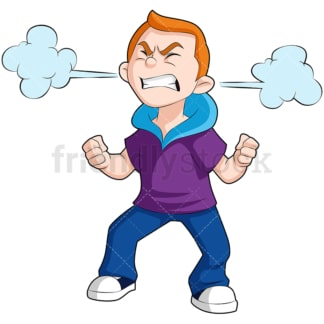Angry kid. PNG - JPG and vector EPS (infinitely scalable). Image isolated on transparent background.