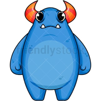 Blue monster. PNG - JPG and vector EPS (infinitely scalable). Image isolated on transparent background.