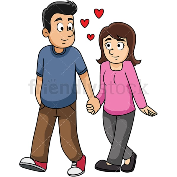 Couple holding hands. PNG - JPG and vector EPS file formats (infinitely scalable). Image isolated on transparent background.