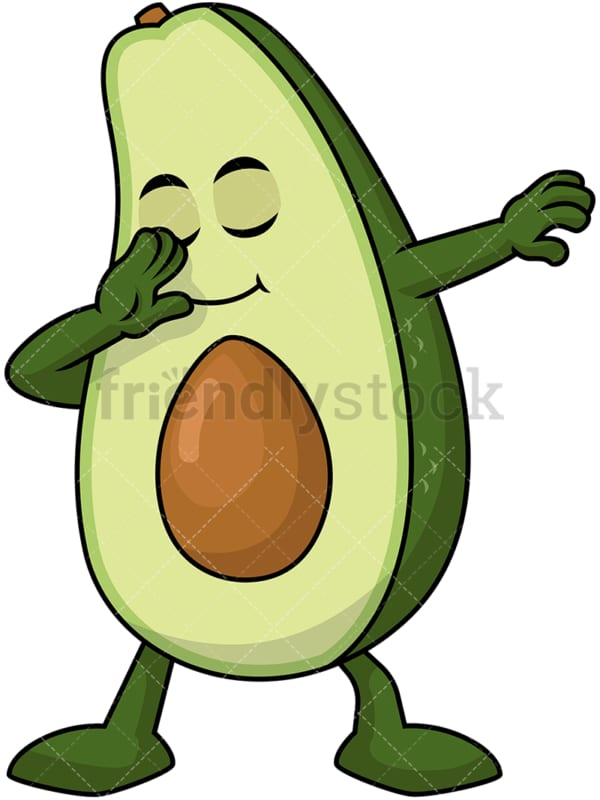 Dabbing avocado. PNG - JPG and vector EPS file formats (infinitely scalable). Image isolated on transparent background.