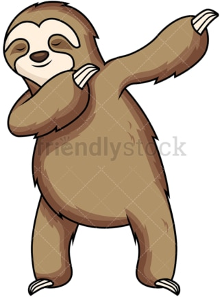 Dabbing sloth. PNG - JPG and vector EPS file formats (infinitely scalable). Image isolated on transparent background.