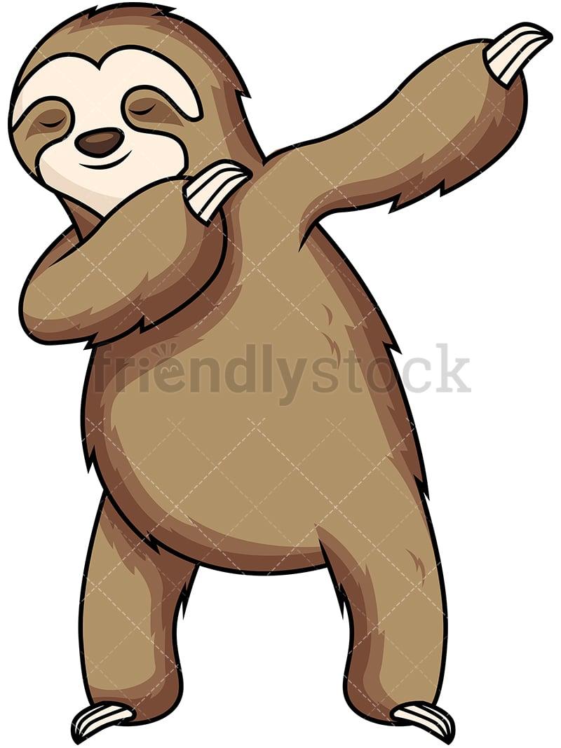dabbing sloth cartoon vector clipart friendlystock rh friendlystock com sloth clip art st patrick's day sloth clip art st patrick's day