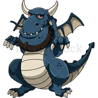 Evil dragon. PNG - JPG and vector EPS file formats (infinitely scalable). Image isolated on transparent background.