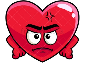 Annoyed heart emoticon. PNG - JPG and vector EPS file formats (infinitely scalable). Image isolated on transparent background.