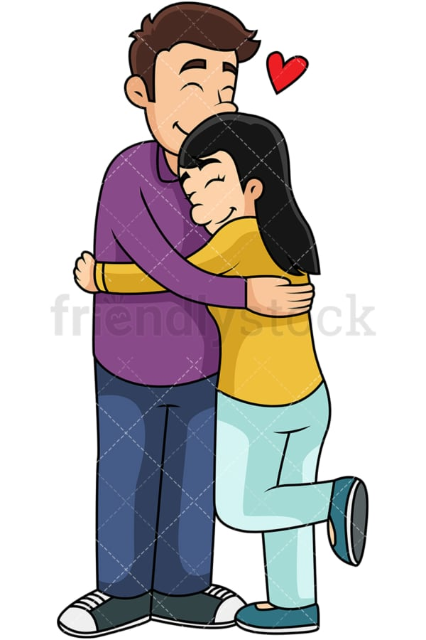 Couple hugging. PNG - JPG and vector EPS file formats (infinitely scalable). Image isolated on transparent background.