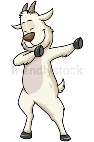 Dabbing goat. PNG - JPG and vector EPS file formats (infinitely scalable). Image isolated on transparent background.